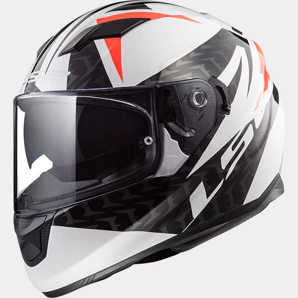 Casco integral LS2 Stream EVO Commander Negro/Blanco/Rojo