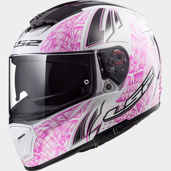 Casco integral LS2 Breaker Rumble Blanco/Rosa