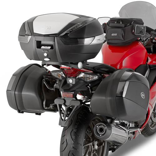 Soporte de baúl trasero Givi 1132FZ para moto Honda VFR 800F 2014>