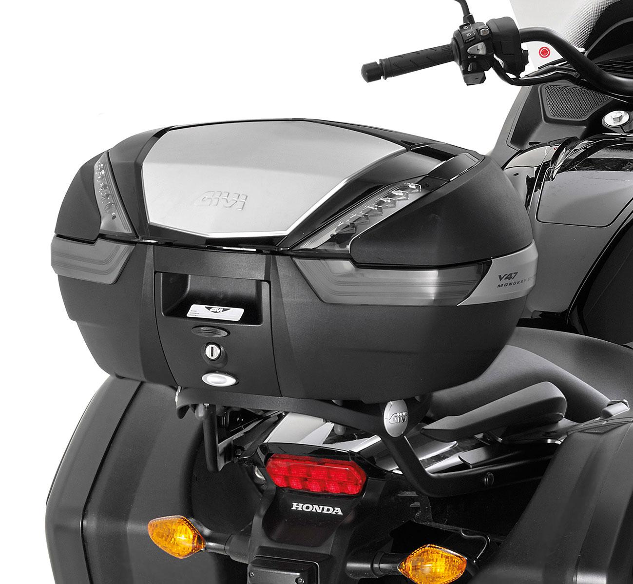 Soporte de baúl trasero Givi 1133FZ para moto Honda CTX 700 DCT 2014>