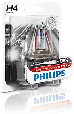 Lámpara faro moto Philips Xtreme Vision H4 100% más de luz