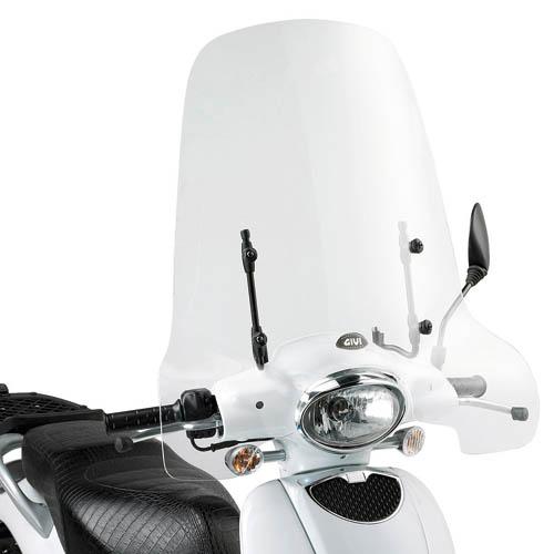 Cúpula transparente Givi 153A Para moto Aprilia Scarabeo 50-100 09-13 / Scarabeo 50 Street 09-13