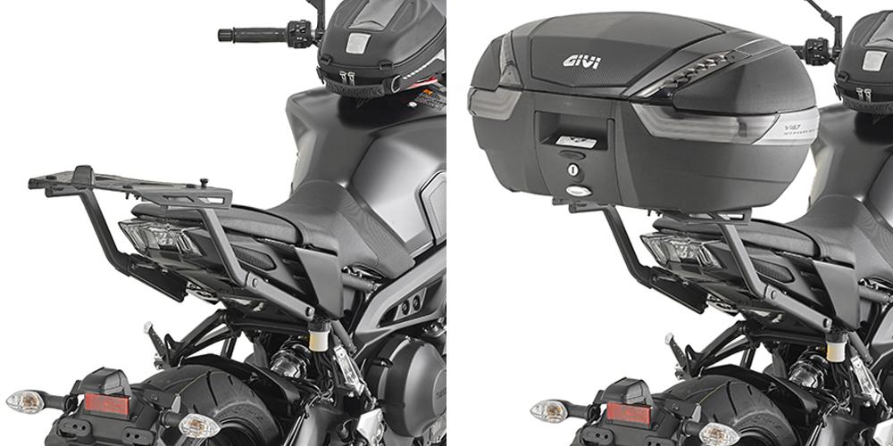 Adaptador posterior específico para maleta MONOKEY o MONOLOCK Givi 2132FZ para moto YAMAHA MT-09 2017
