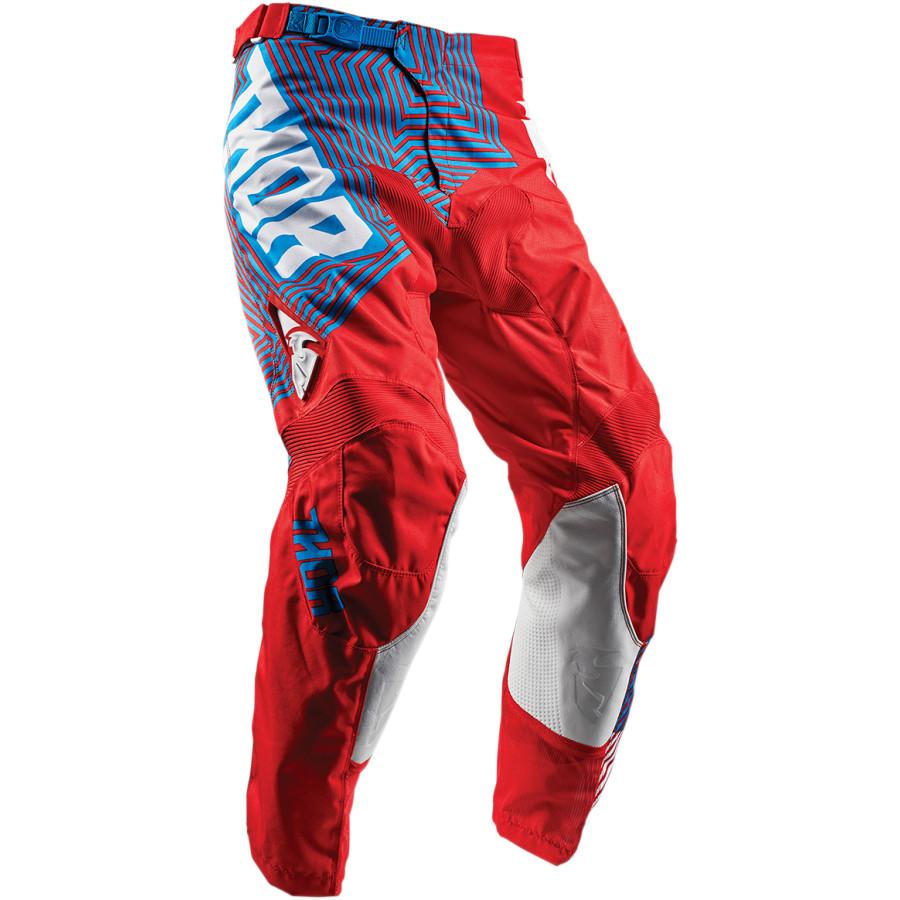 Pantalón cross Pulse Geotec THOR Rojo/azul