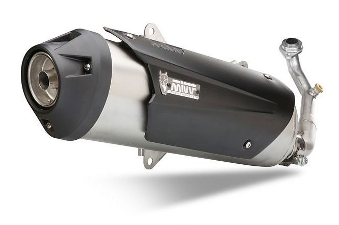 Escape completo no homologado Mivv Urban Acero inox. para Suzuki BURGMAN 400 06-16