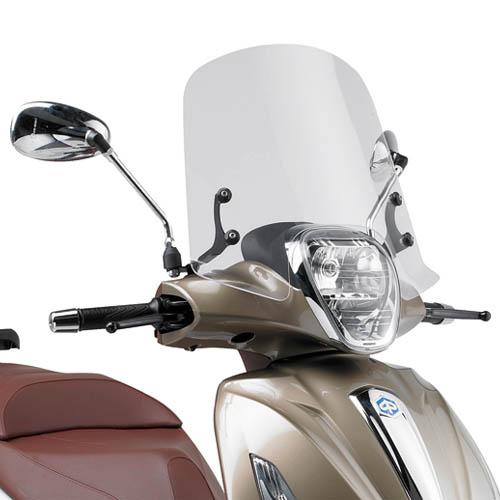 Cúpula transparente Givi 357A Para moto Piaggio Beverly 125ie/300ie 2010> y Piaggio Beverly 350 Sport Touring 2012>