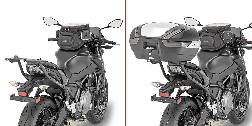 Soporte de maleta trasera moto Givi 4117FZ para KAWASAKI Z650 2017