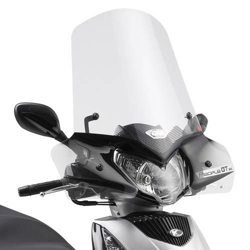 Cúpula transparente Givi 443A Para moto Kymco People GTi 125-200-300 2010>