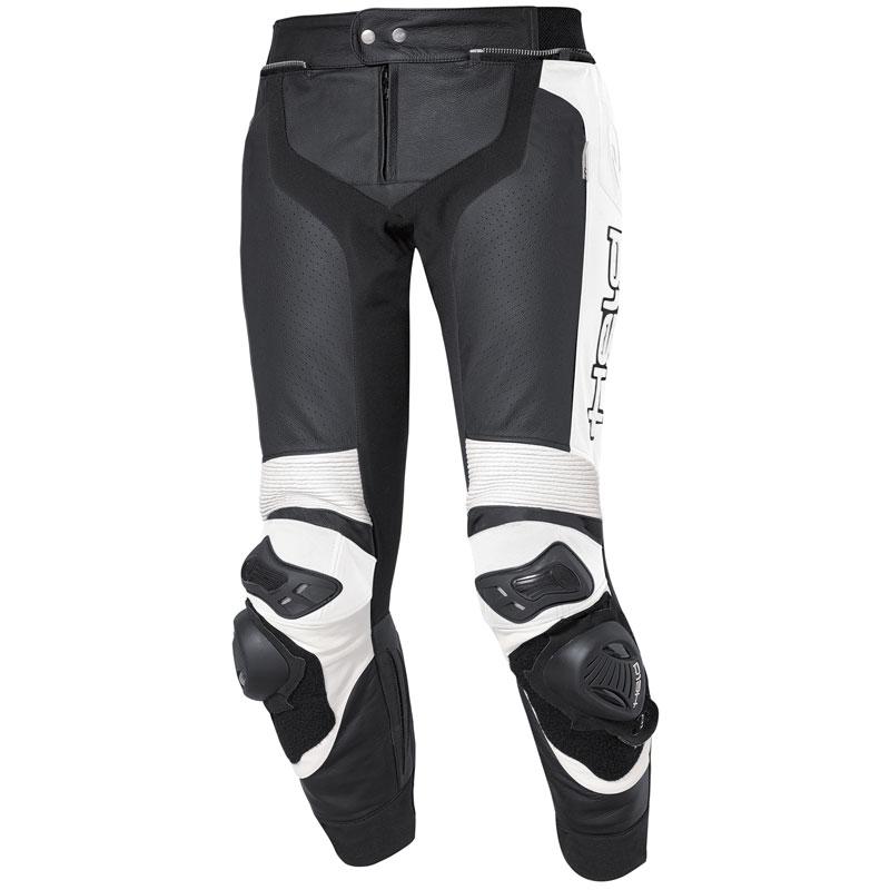Pantalón del piel Held Grind negro-blanco