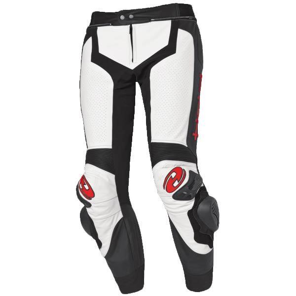 Pantalón del piel Held Grind blanco-negro