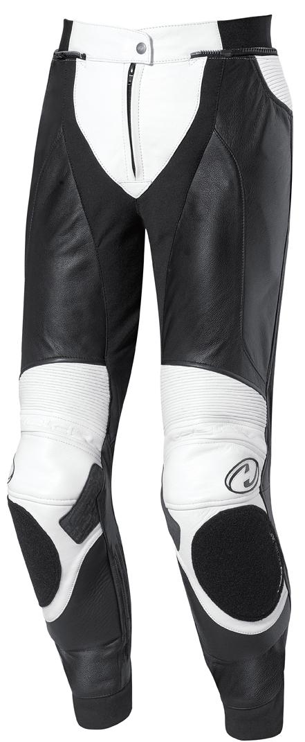 Pantalón de piel para mujer Held Lane blanco-negro