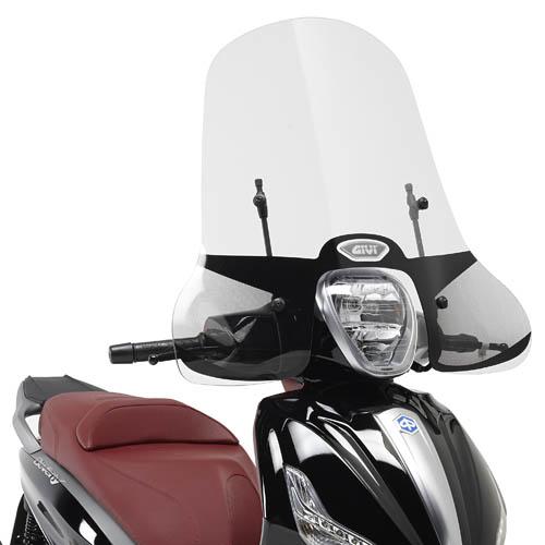Cúpula transparente Givi 5606A para moto Piaggio Beverly 125ie / 300ie 2010> Piaggio Beverly 350 Sport Touring 2012>