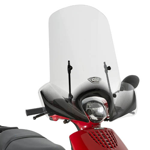 Cúpula transparente Givi 6102A Para moto Piaggio ZIP 50 2T-4T 13> / ZIP 50-125 00-12 y Kymco Like 50 / 125 / 200i 09>