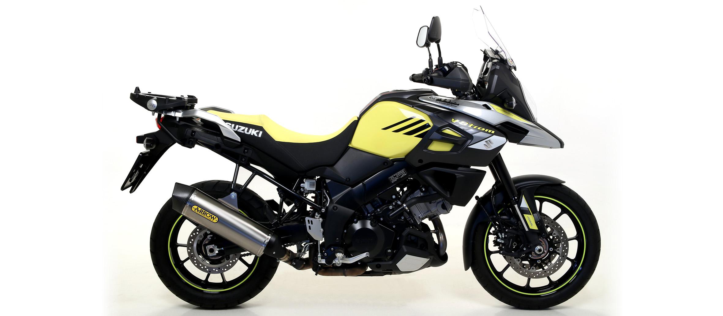 Escape Homologado Arrow Maxi Race-Tech aluminio para SUZUKI V-STROM 1000 2014>