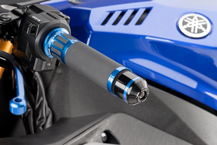 Contrapesos manillar modelo corto con aro Puig 8189 para YAMAHA R1 15-17 / R6 17