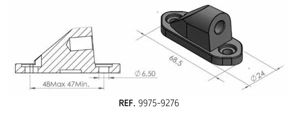 Adaptador retrovisor al carenado Puig 9276N lado derecho e izquierdo para Kawasaki (mirar modelos compatibles)