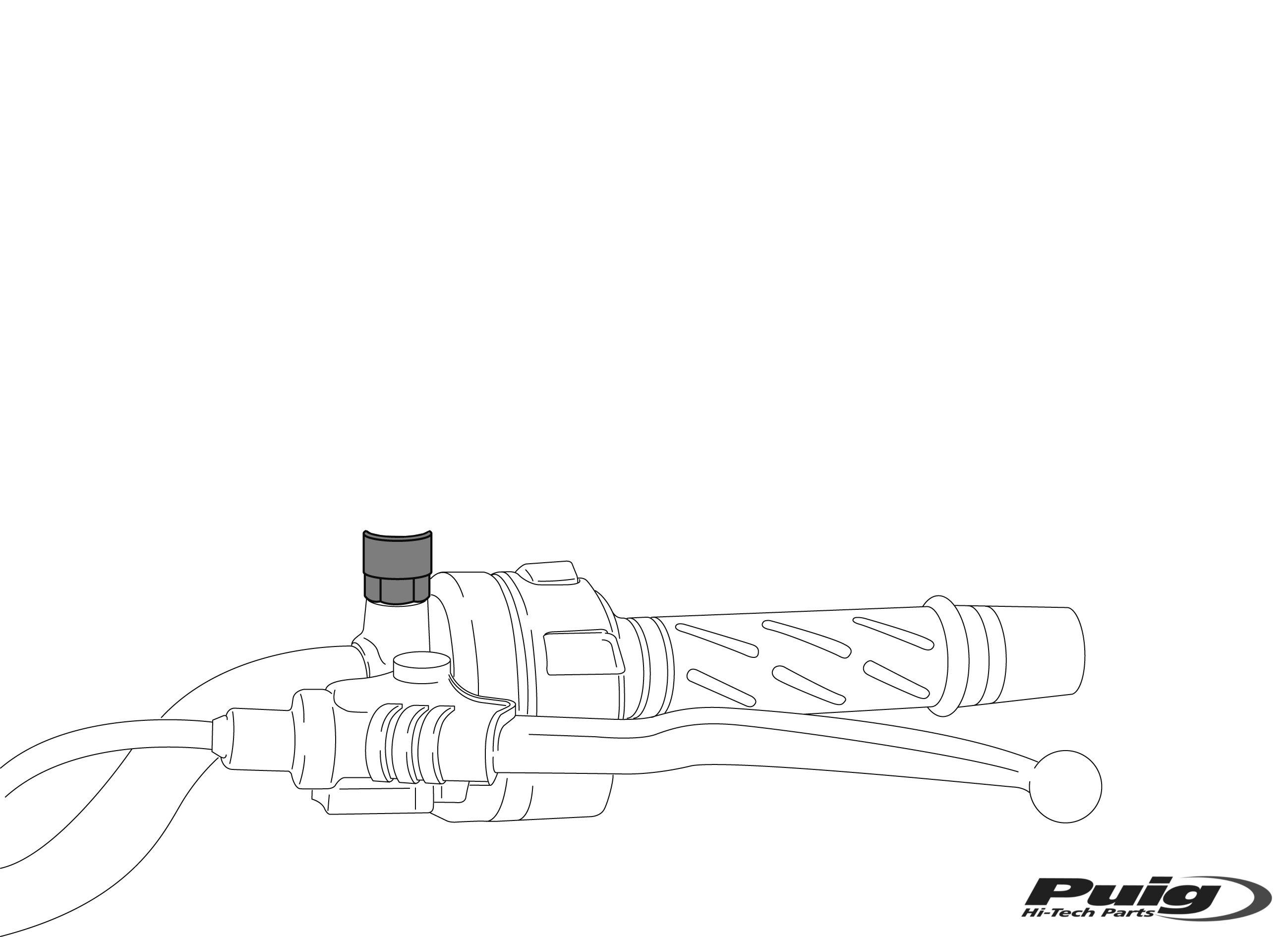 Adaptador retrovisor al pie de carenado Puig 9574N lado derecho para Yamaha T-Max 530 12-17