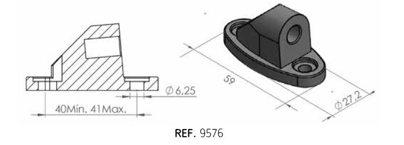 Adaptador retrovisor al carenado Puig 9576N lado derecho e izquierdo para Honda (mirar modelos compatibles)