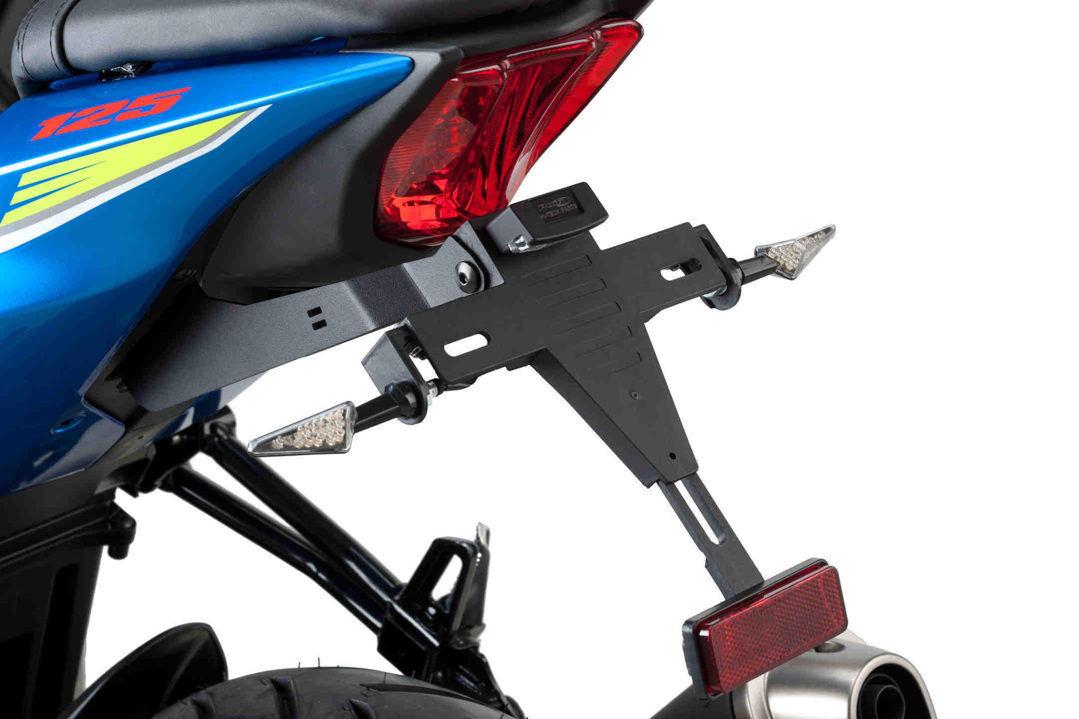 Portamatrículas Puig 6272 para Suzuki GSX-S125 17-18 / GSX-R125 17-18