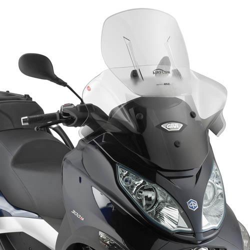 Cúpula Givi Airflow AF5601 extensible para moto Piaggio (Ver modelos compatibles)