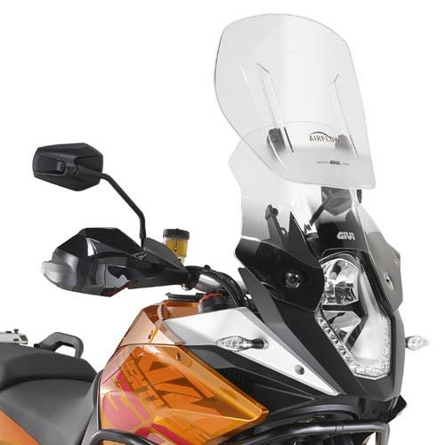 Cúpula transparente Givi Airflow AF7703 para moto KTM 1190 Adventure / Adventure R 2013> y KTM 1050 Adventure 2015