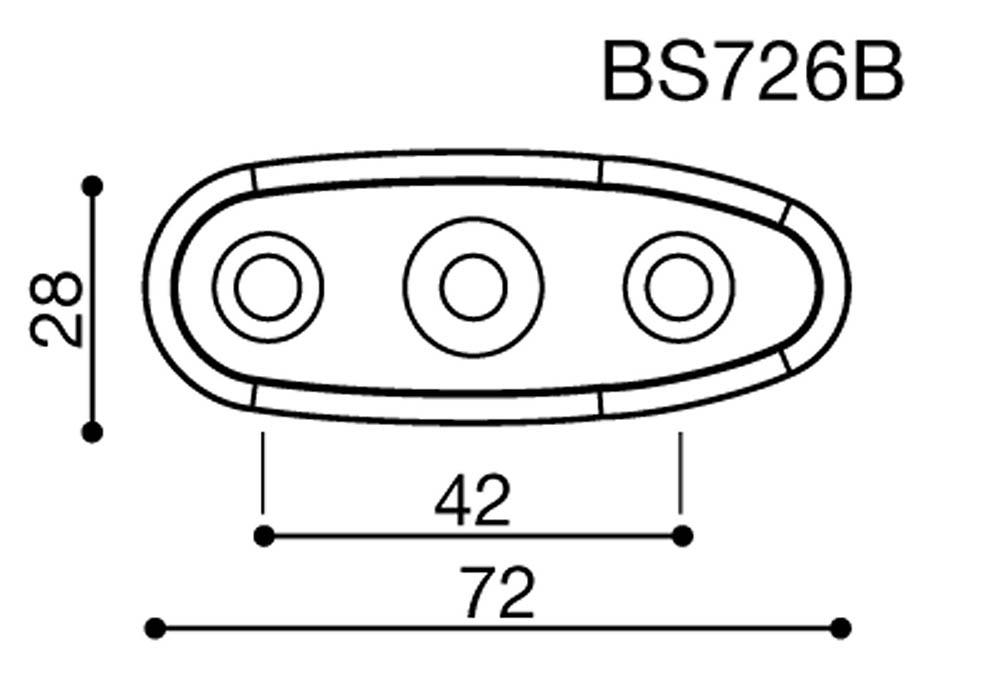 Adaptador espejo BS726B Rizoma para motos carenadas Suzuki (unid.)