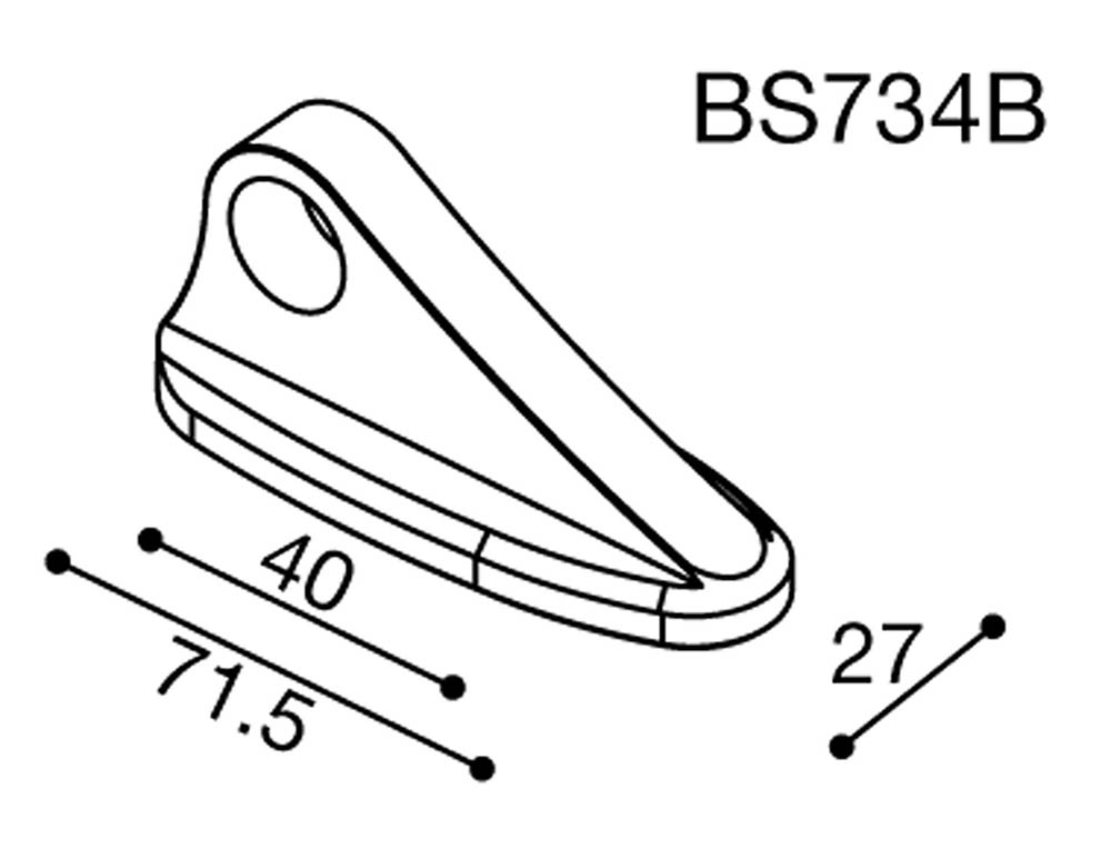 Adaptador espejo BS734B Rizoma para Yamaha FZ1 06> (unid.)