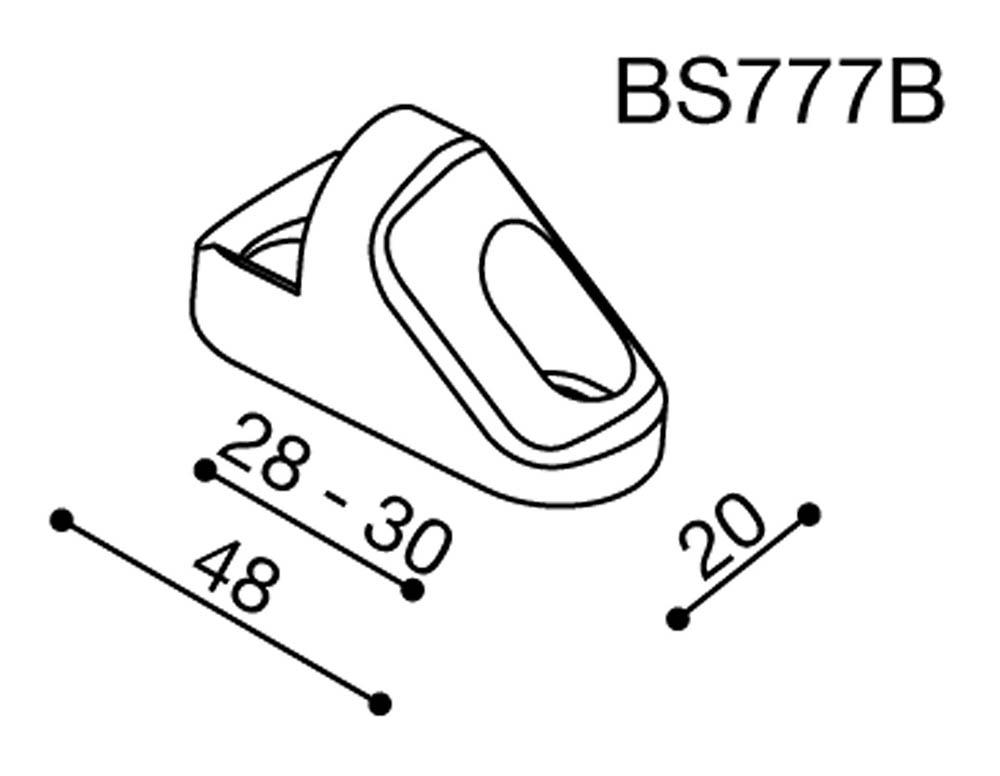 Adaptador espejo BS777B Rizoma para Triumph Daytona 675 09-12 / 675R 11-12  (unid.)