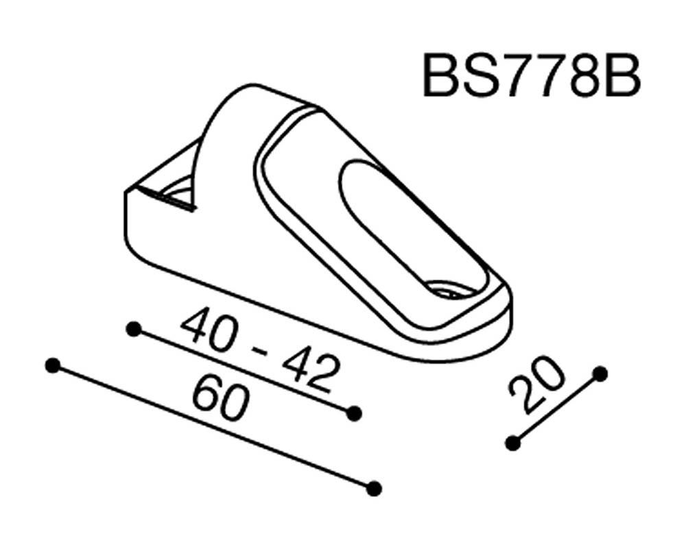 Adaptador espejo Rizoma BS778B para motos carenadas de Honda / Kawasaki / Suzuki (unid.)
