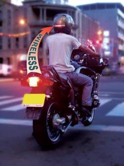Segunda luz de freno Homologada Ciclope para cascos. (Pack de 2 unidades)