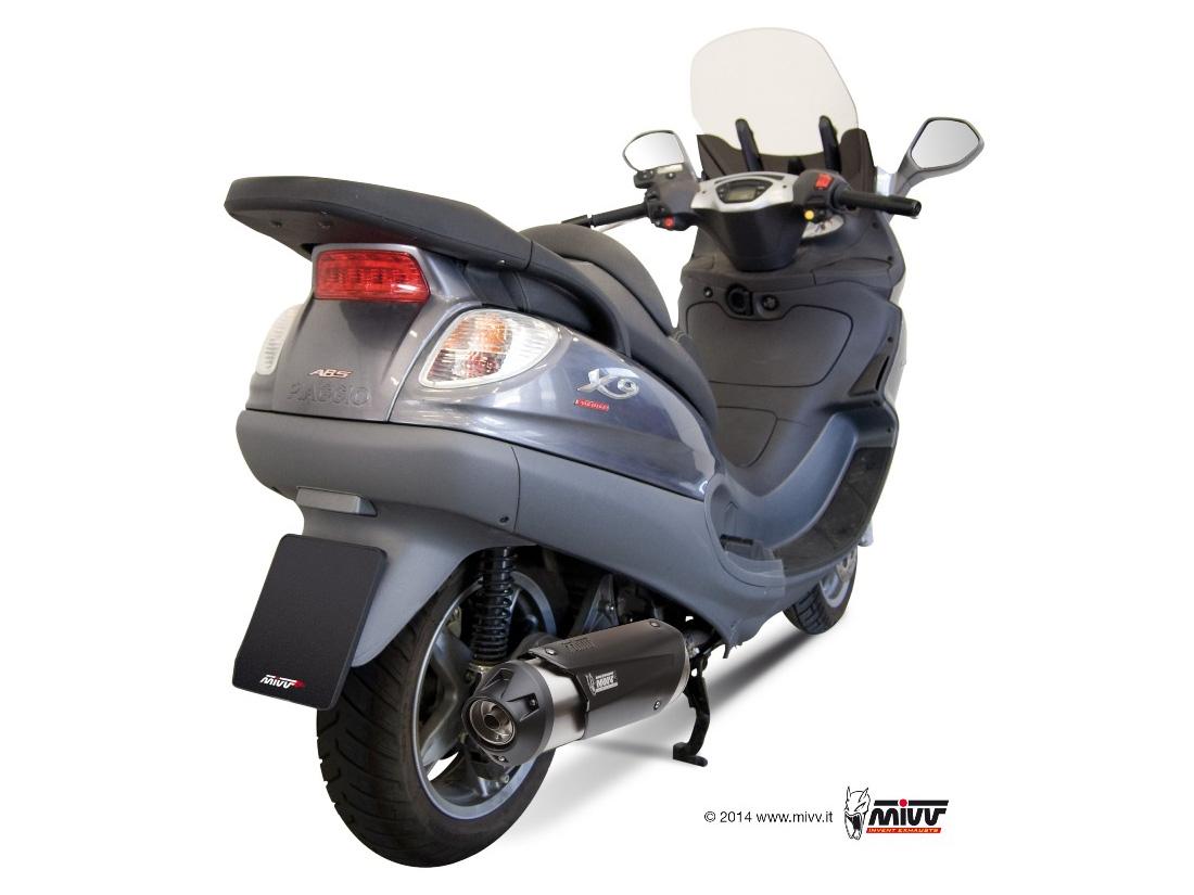 Escape NO homologado Mivv Urban en acero inox. para Piaggio X9 500 06-07