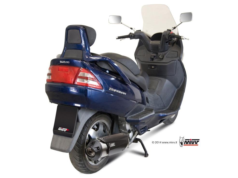 Escape completo NO homologado Mivv Urban en acero inox. para Suzuki Burgman 250 98-02
