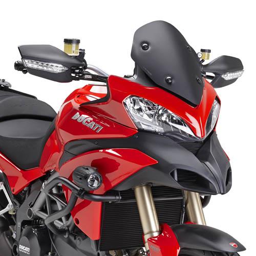 Cúpula deportiva Givi D7401NO color Negro mate para moto Ducati Multistrada 1200 13-14