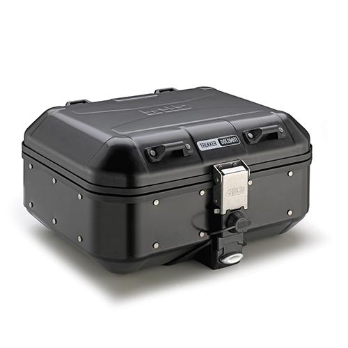 Maleta monokey Givi Trekker Dolomiti lateral o central 30 Lts. fabricada en aluminio pintado en negro