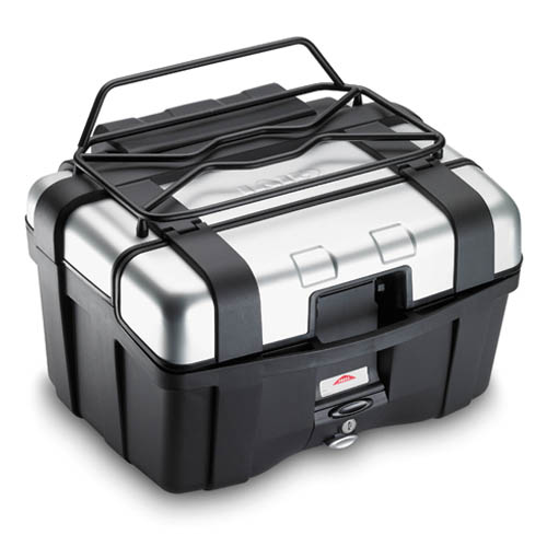 Portapaquetes metálico E120B para maletas Trekker, permite abrir la ventanilla superior