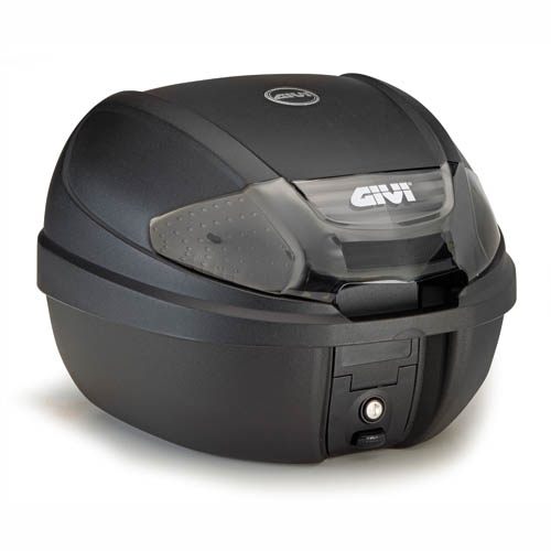 Baúl moto trasero Givi Monolock E300NT 30 Lts. con catadioptricos ahumados