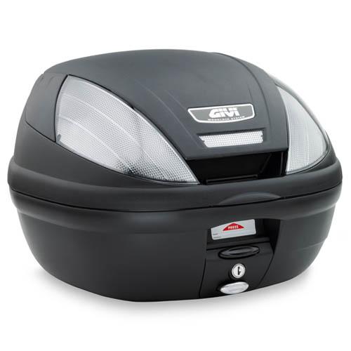 Baúl Monolock Givi E370 con catadióptrico transparente
