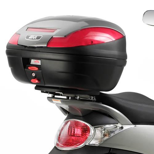 Soporte de baul trasero monolock moto givi E730 para Aprilia Scarabeo 250-300 07-16 y Scarabeo 400-500 06-12