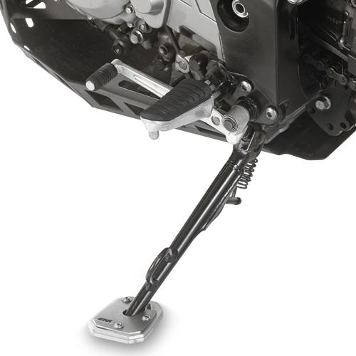Base Givi ES3101 para agrandar el apoyo del caballete original Suzuki DL 650 V-Strom 2004 en adelante