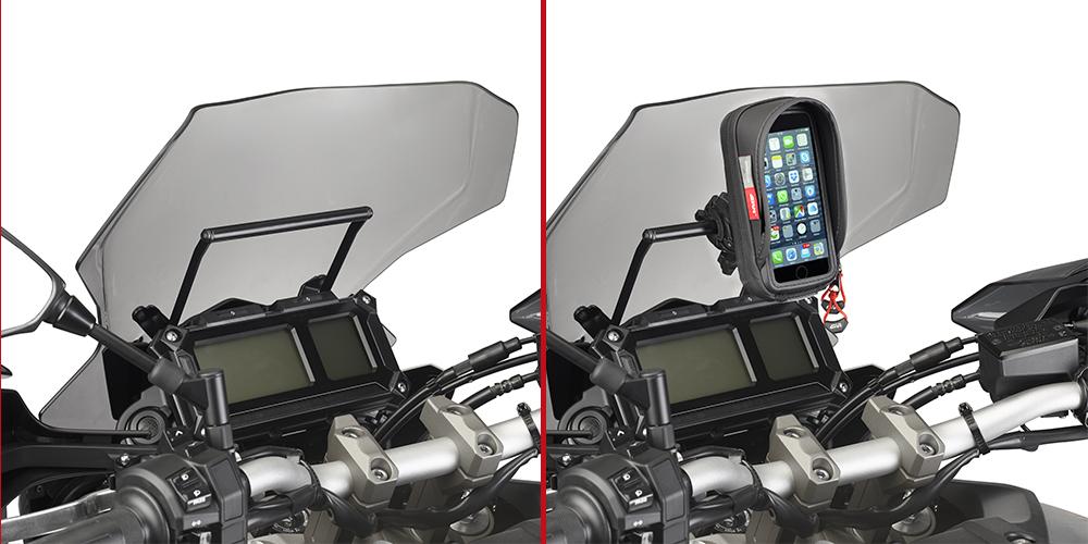 Barra porta bola GPS / Smartphone Givi para Yamaha MT-09 Tracer 2015>