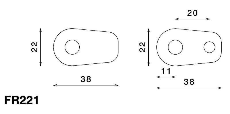 separador de 32mm para los intermitentes  se puede