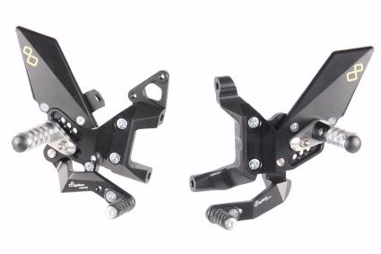 Estribera Lightech con cambio invertido para Ducati Panigale 899/959/1199/1299