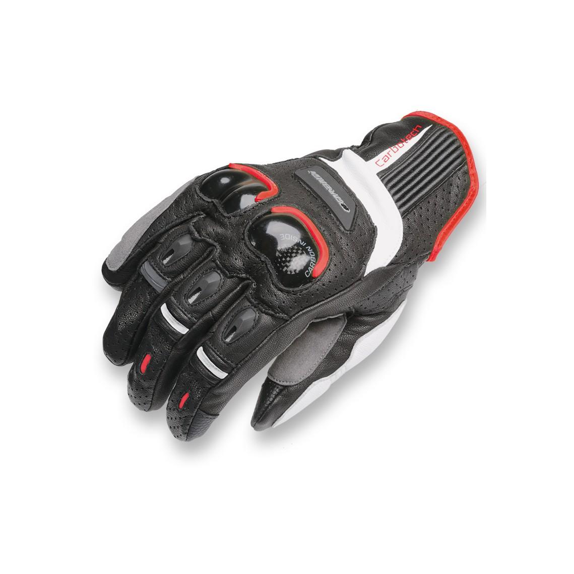 Guantes cortos Racing Garibaldi Carbotech negro / rojo