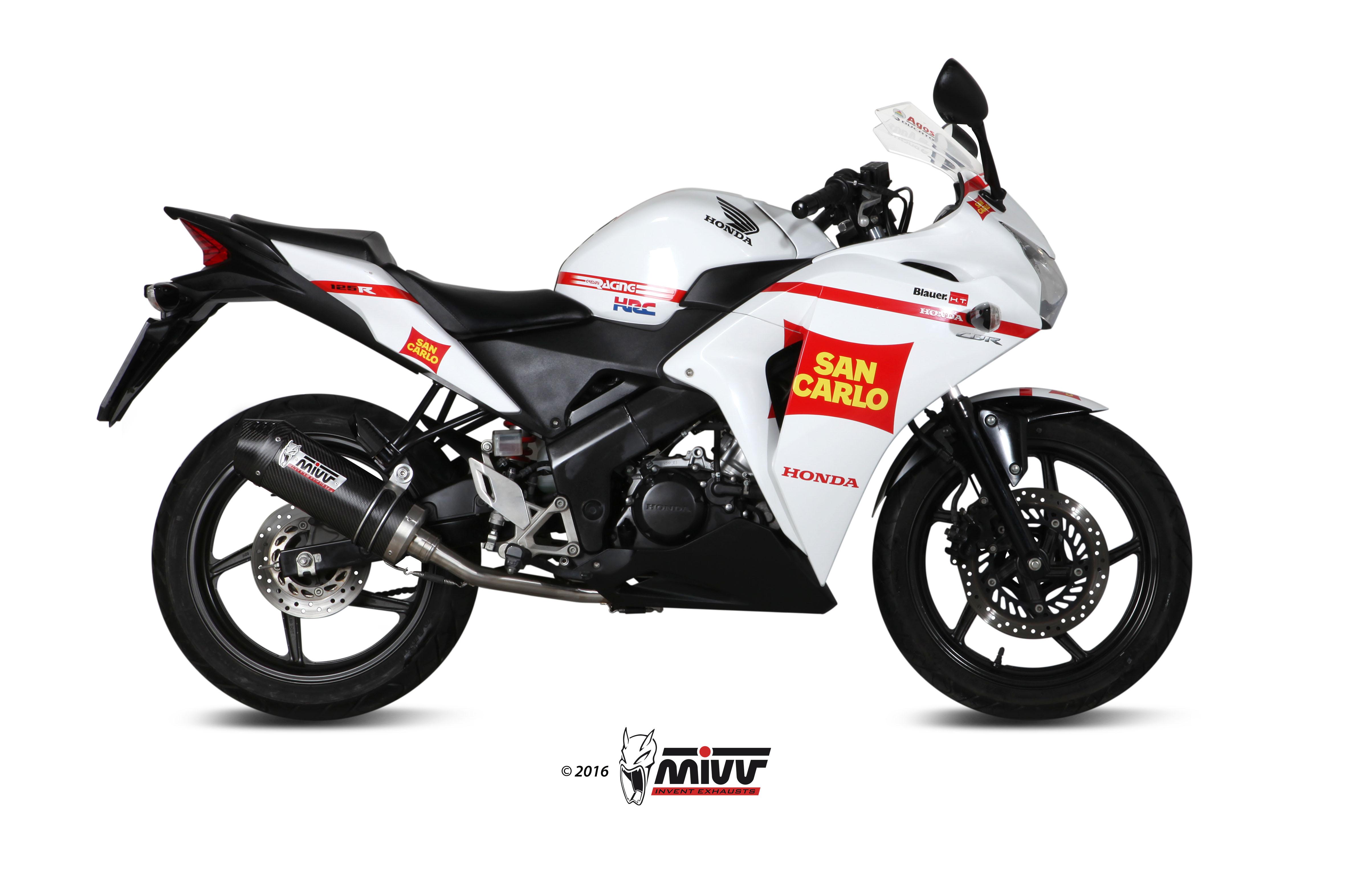 Escape completo homologado Mivv Oval en carbono para Honda CBR 125R 2011>