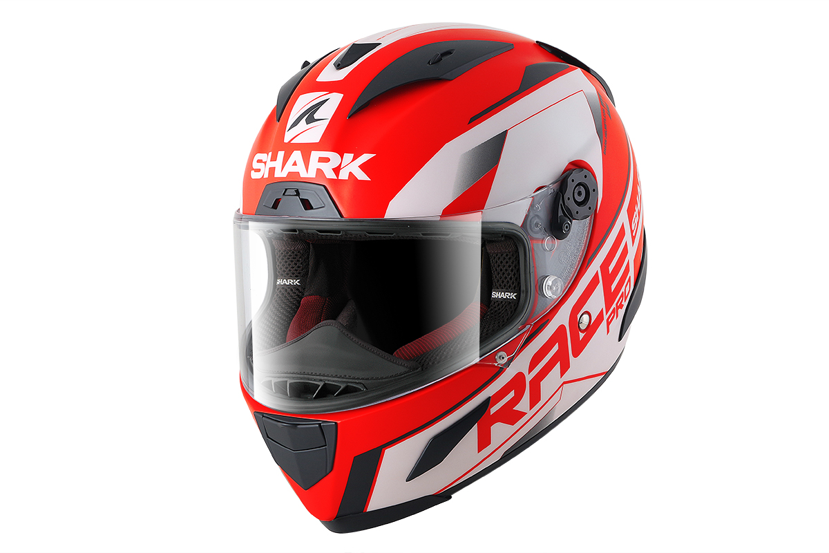 Casco integral SHARK Race-R Pro Sauer Rojo/Blanco