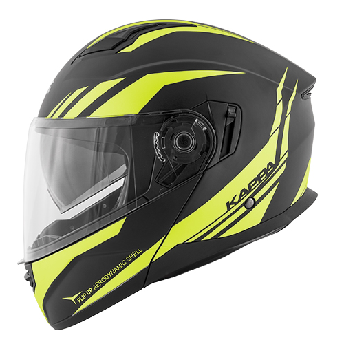 Casco Kappa KV31 Arizona Phantom Negro Mate y Amarillo