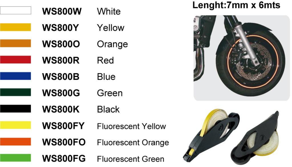 Adhesivos de color para llantas de moto ITR IT16071 con transportador