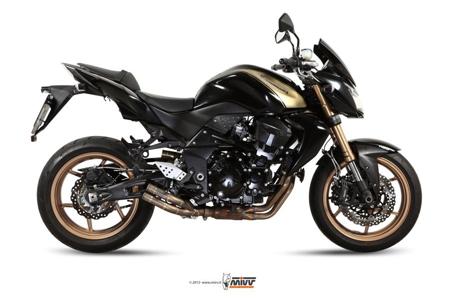 Escape no homologado Mivv Double Gun Titanio para Kawasaki Z 750 R 11-14