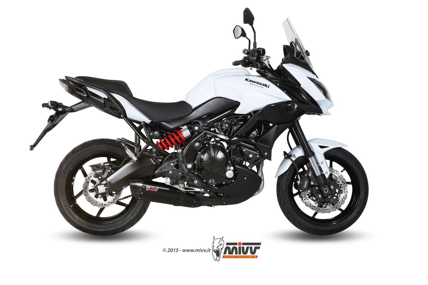 Escape completo homologado Mivv Suono Acero negro para Kawasaki Versys 650 15-20