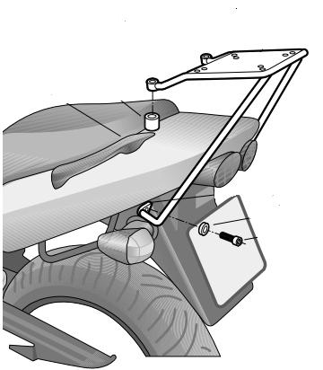 Soporte de baúl trasero Shad K0ZR71ST para Kawasaki ZR7 / S 01-05